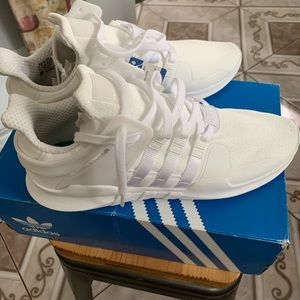 Adidas Size all white Eqt Support